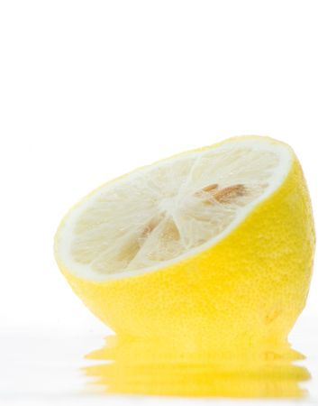 Splash of lemon slice in the water. Stock Photo - 3248581