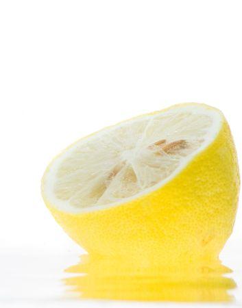 Splash of lemon slice in the water. Stock Photo - 3248581