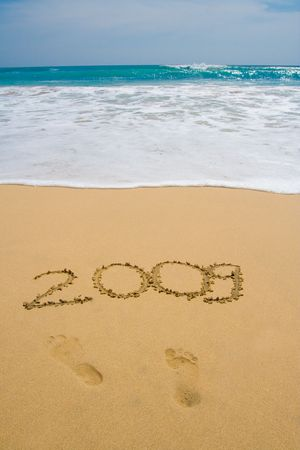 Celebrate New Year 2009 on exotic places! Stock Photo