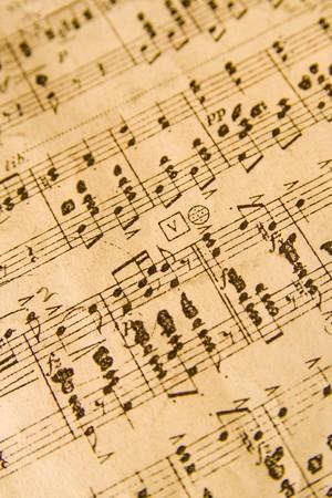 minors: Imagen de fondo de las notas musicales. Aspecto vintage.