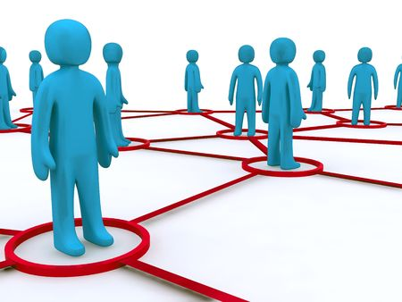 Concept image representing networking. This image is 3d render. Stock Photo - 4584984