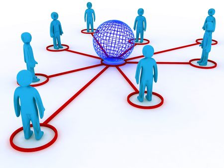 Concept image representing global networking. This image is 3d render. Stock Photo