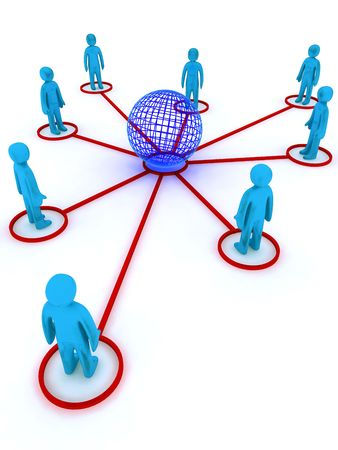Concept image representing global networking. This image is 3d render. Stock Photo - 4914829