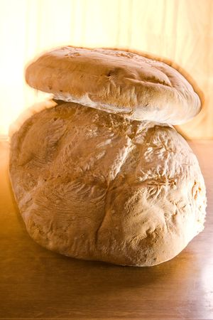 creatively: Creatively lit traditional home baked bread loafs