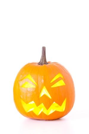 Halloween Jack O Lantern isolated on white background. Stock Photo - 7894306