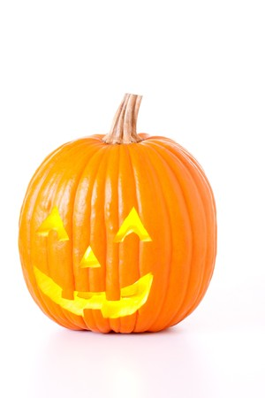 Halloween Jack O Lantern isolated on white background. Stock Photo - 7894308