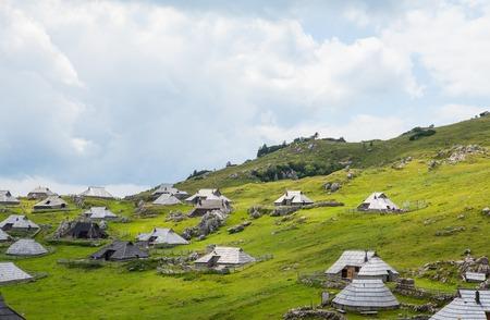 slovenian: Picturesque Slovenian alpine village on Velika planina Editorial