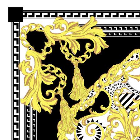 beautiful colorful textile print scarf design