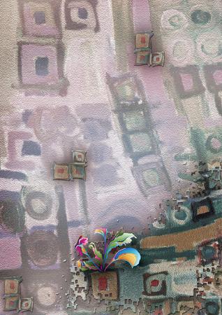 textile digital print colorful flower and background design Stok Fotoğraf