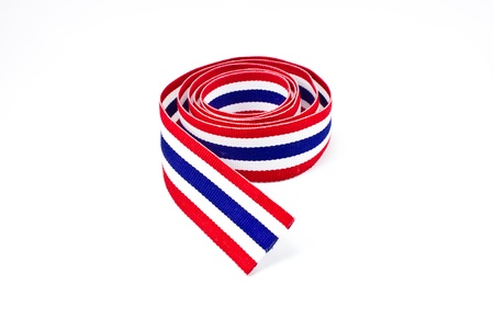 Thailand flag ribbon Stock Photo