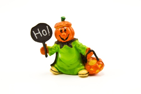 scary pumpkin figure Stock Photo