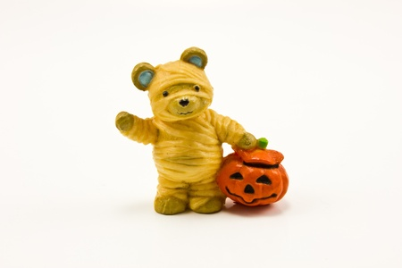 mummy bear figure for halloween
