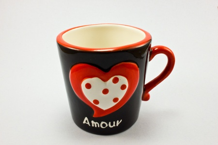 Cup with the word amour