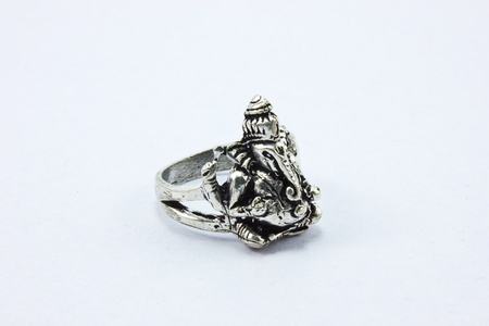 Hindu god ring  on white background