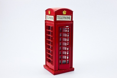 Telephone box sharpener on white background