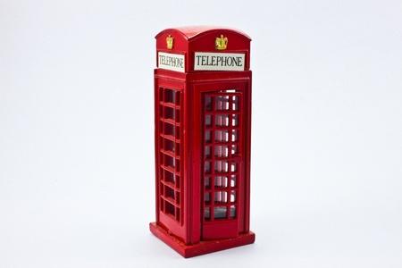 Telephone box sharpener on white background