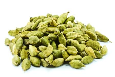 cardamon seed on white background Stock Photo