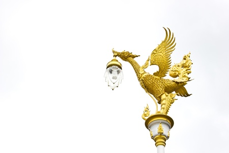 golden bird street lamp
