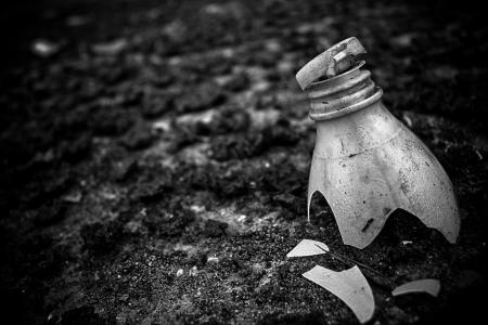 broken plastic bottle