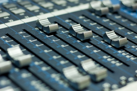Sound mixer board photo