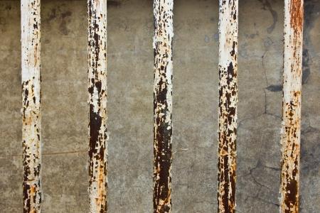 Rusty metal pole Stock Photo