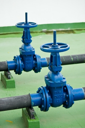 water treatment plant: Water valves