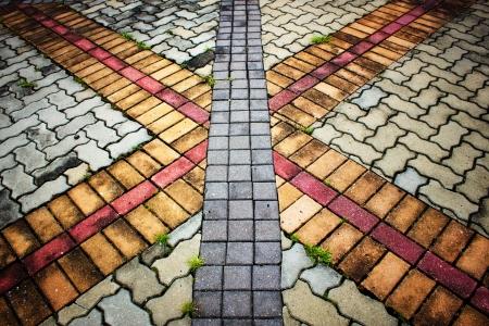 Stone pattern on walking way