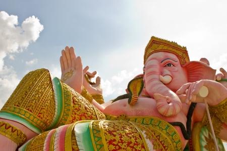 Hindu god elephant statue Stock Photo
