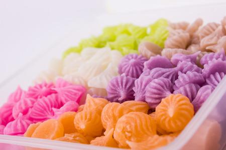 Colorful thai dessert Stock Photo