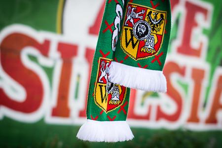 ultras: football fan scarf and ultras graffiti Stock Photo