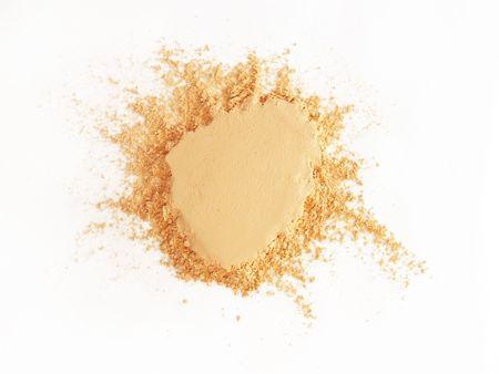 Isolated batch of face powder Banco de Imagens