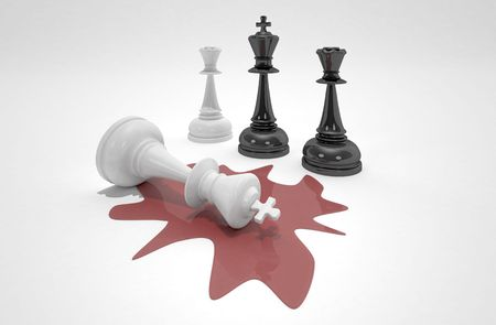 major battle: the king is dead Stock Photo