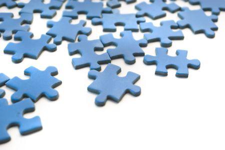 blue puzzle photo