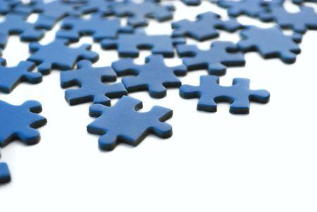 blue puzzle Banco de Imagens