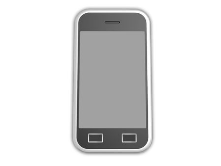 3d visualization of isolated cell phone with touch screen Stock Photo - 7748743