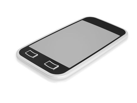3d visualization of isolated mobile phone with touch screen Stock Photo - 7748744