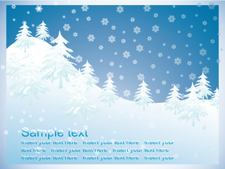 Winter background Stock Vector - 7978650