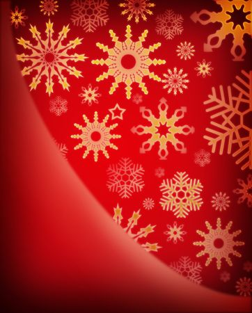 christmas background with golden snowflakes Stock Photo - 7978652