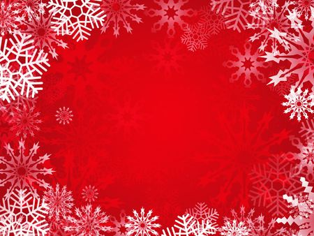 Christmas background with snowflake frame Stock Photo - 7978654