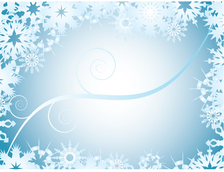 background with snowflake frame Vector