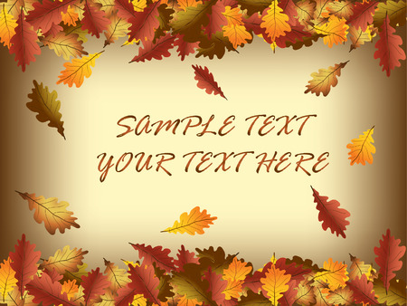 Autumn leaves frame Stock Vector - 8032856