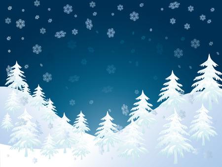 pine forest:  winter landscape Illustration