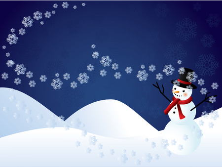 Christmas background with snowman Stock Vector - 8069446