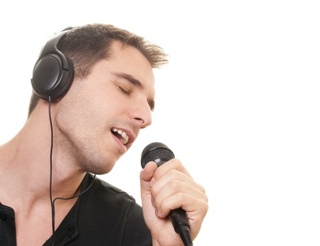 handsome man singing