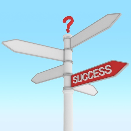 crossroad sign with one way success direction Stock Photo - 8797476