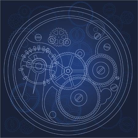gears bluprint Stock Vector - 8797477