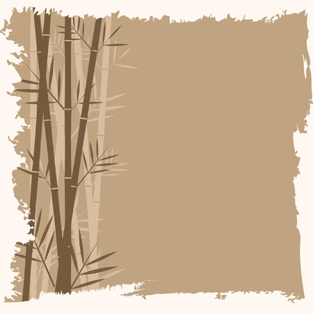bamboo frame: Bamboo vector background Illustration
