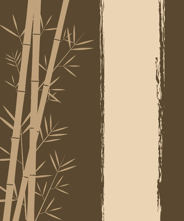 bamboo border: Bamboo vector background Illustration