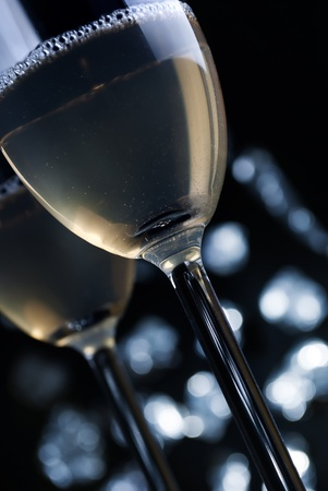 two glasses of champaigne photo