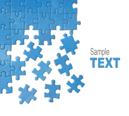 metaphor: blue puzzle Stock Photo